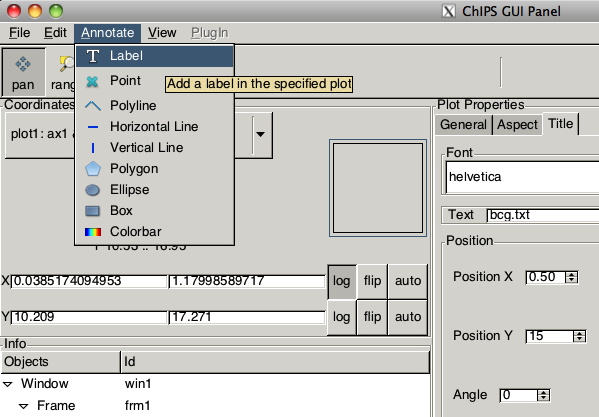[The ChIPS GUI showing the Annotate menu]